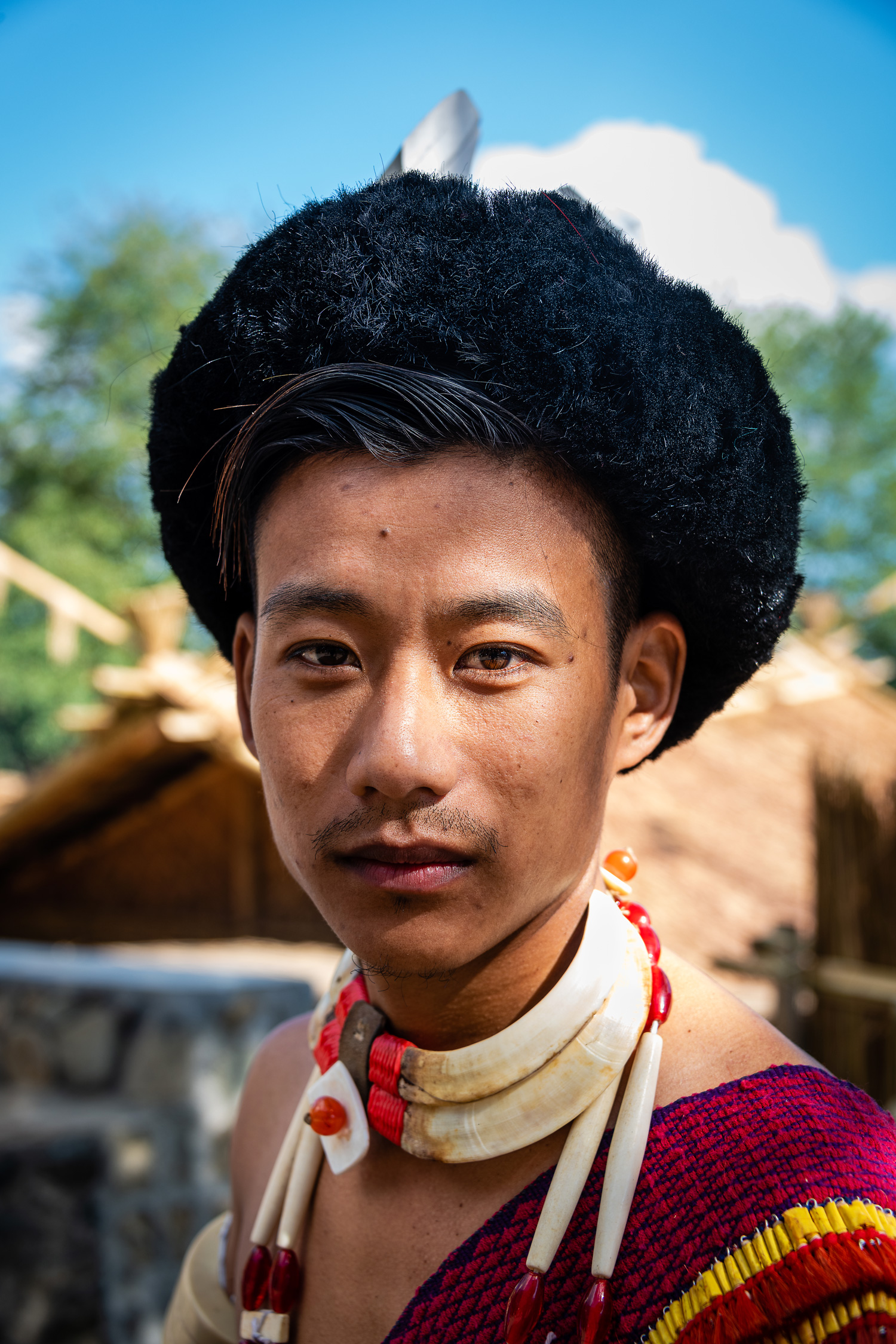 A Young naga Tribal at the Hornbill Festival