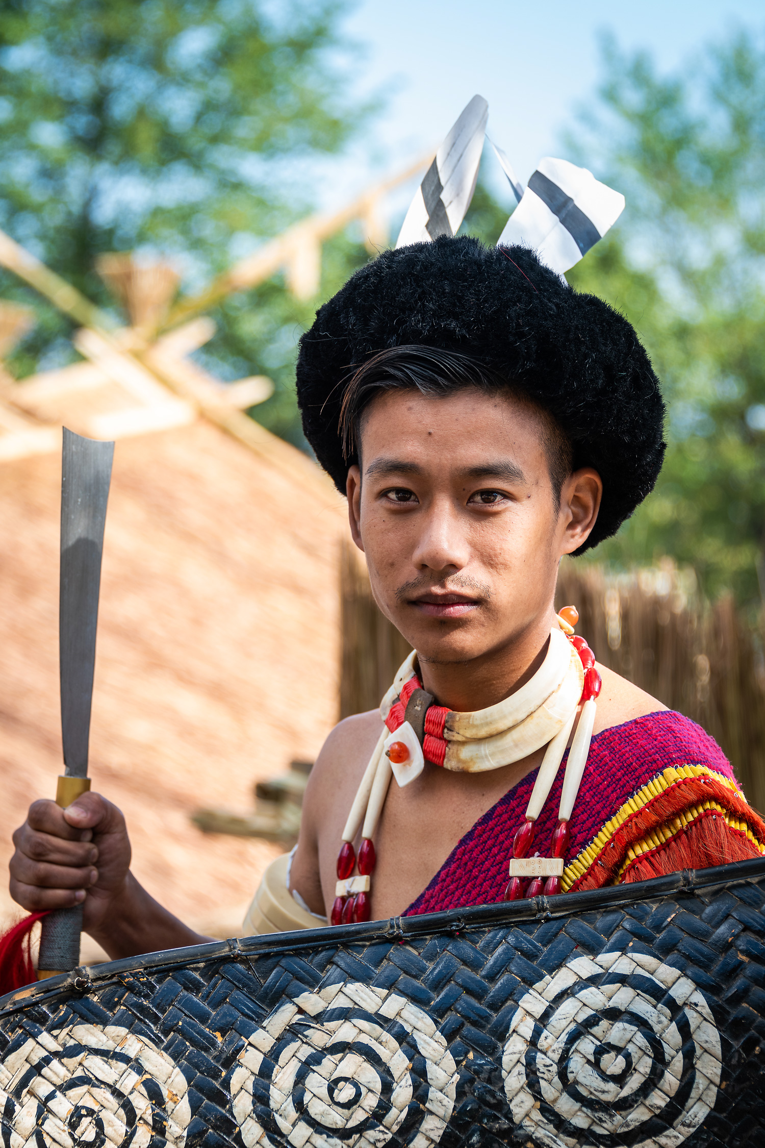 Portrait of an Young Naga Warrior